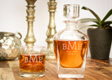Liquor Decanter Set-personalized whiskey decanter-EngraveMeThis