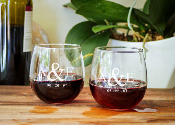 Red Wine Glasses-personalized wine glasses-EngraveMeThis