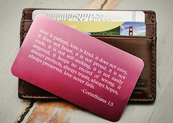 Pink Wallet Insert Card-engraved wallet card father of the bride gift-EngraveMeThis