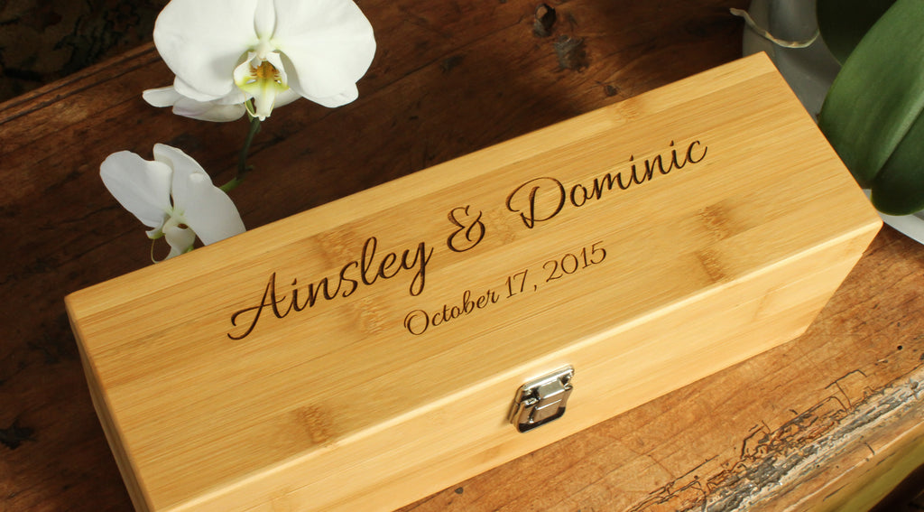 custom engraved wine bottle boxes