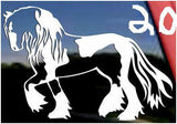 #1 Vinyl horse decal  (Spotted Saddle Horse)  FREE SHIPPING