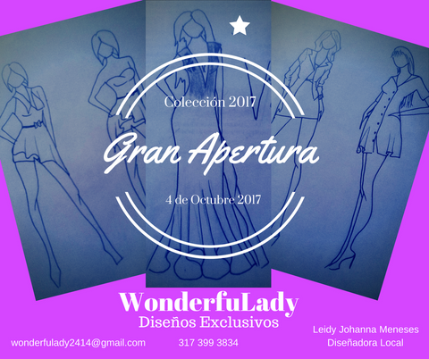 Grand opening wonderfulady designs shop