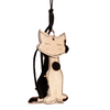 Cuddle-Me Cat | Handbag Accessory and Keychain | Car Mirror Charm