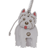 Wagging Westie Terrier Charm - Handbag Charms  - Handbag THEMAKERWORLD TheMakerWorld