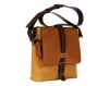 Terra-Maxi, Unisex Oversized Saddle in Amber & Chocolate, Handmade in Full-Grain Leather - Limited Edition - Handbag Charms Leather Bag - Handbag TheMakerWorld TheMakerWorld