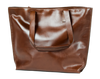 "Cloudy Tote in Dark Chocolate w/13"" Laptop Sleeve, Handmade, Leather, Large - TheMakerWorld"