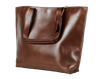 "Cloudy Tote in Dark Chocolate w/13"" Laptop Sleeve, Handmade, Leather, Large - Limited Edition - TheMakerWorld"