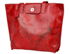 "Lady in Red-Leaves Tote w/13"" Laptop Sleeve, Large Handmade Handbag, All-Season - Handbag Charms Leather Bag - Handbag TheMakerWorld TheMakerWorld"