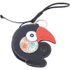 Toucan Coin Purse & Credit Card Holder  | Leather Accessory and Keychain - Handbag Charms Keyring - Handbag TheMakerWorld TheMakerWorld