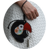 Toucan Coin Purse & Credit Card Holder  | Leather Accessory and Keychain