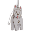 Wagging Westie Terrier | Handbag Accessory and Keychain | Car Mirror Charm - TheMakerWorld