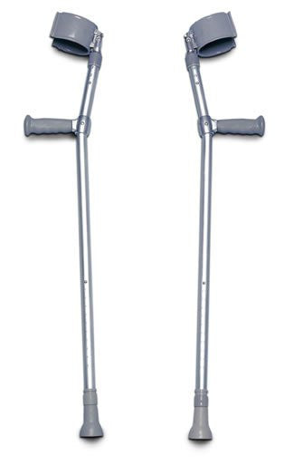 Lofstrand Forearm Crutches Front Entry Diamond Athletic