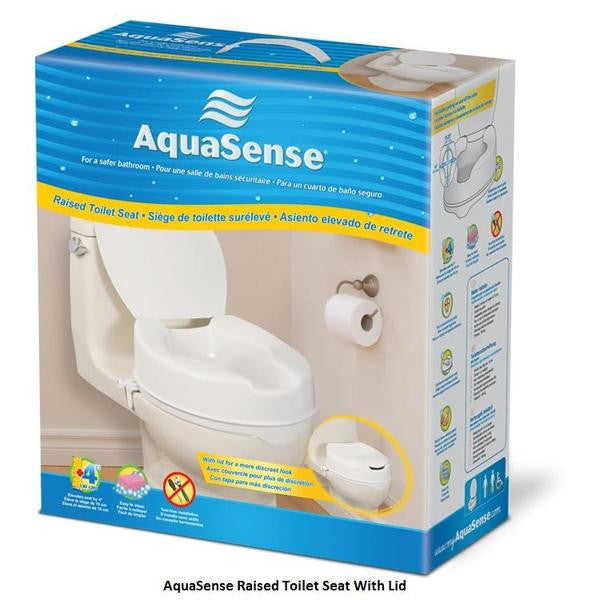 4 Quot Raised Toilet Seat Aquasense With Lid Diamond Athletic