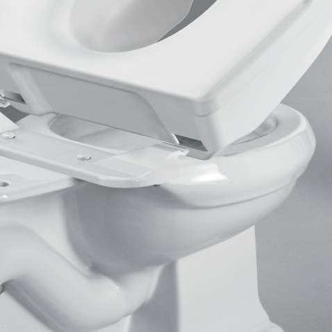5 Quot Raised Toilet Seat Moen Locking With Support Handles