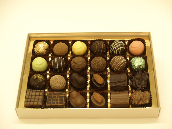 24 Assorted truffles & pralines