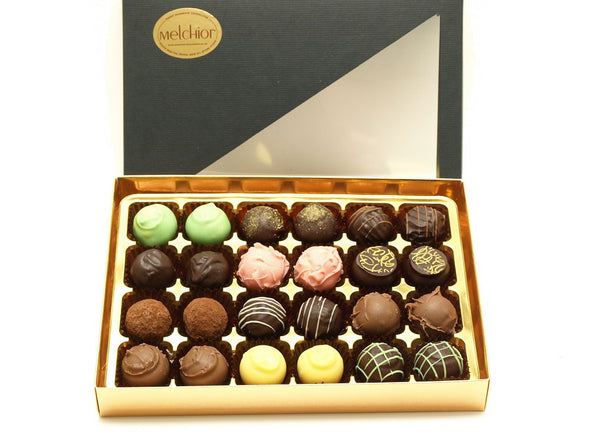 24 assorted luxury handmade chocolate truffles