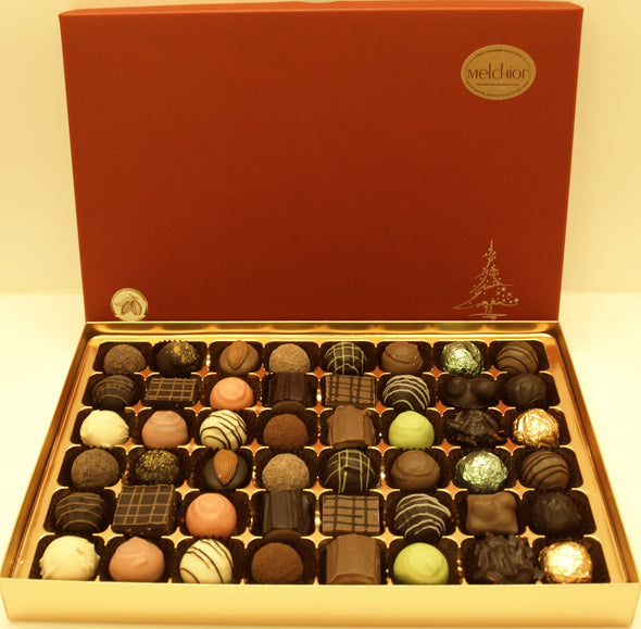Red Christmas Box 48 chocolates