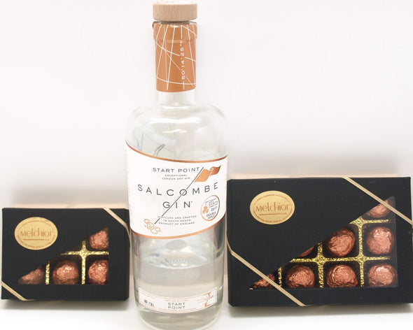 NEW  Salcombe Gin 12 Liqueur Chocolates.
