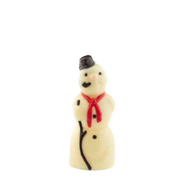Handpainted white chocolate snowman