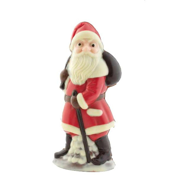 Handpainted large Father Christmas in red coat.