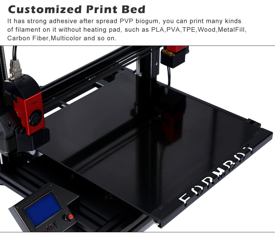 Customized Print Bed