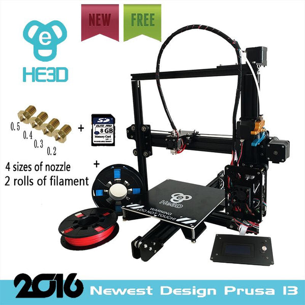 He3D 2017 Newest Prusa Ei3 3D Printer Kit with 2 rolls of filament - 3D Printer Universe