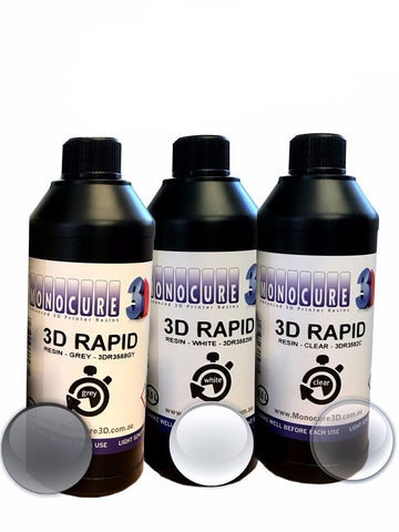 Monocure Rapid 3D Resin Starter Pack - 3D Printer Universe