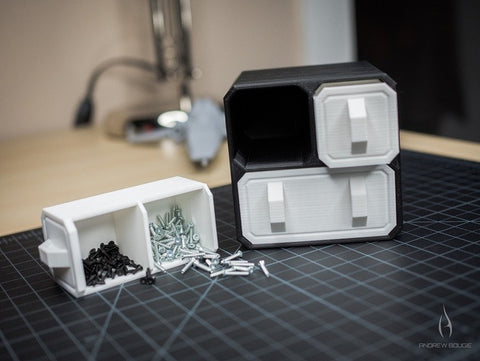 Scifi Small Part Storage Crates - 3D Printer Universe