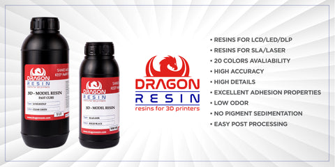 Dragon Resin Fast Cure for MSLA/LCD/DLP/LED 3D Printer - 3D Printer Universe