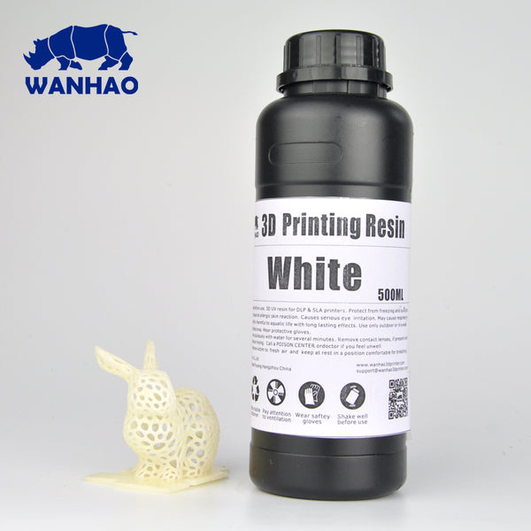 Wanhao UV Cure 3D Printer Resin 500ml/1L (1000ml) - 3D Printer Universe