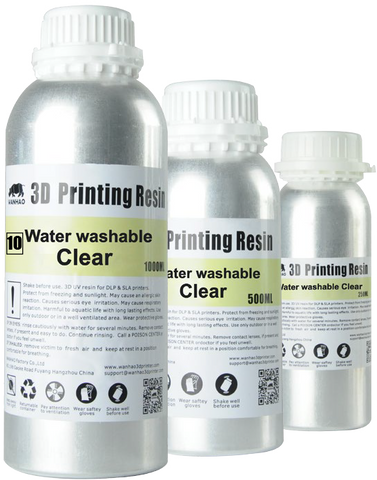 Wanhao UV Cure 3D Printer Water Washable Resin 500ml/1L (1000ml) - 3D Printer Universe