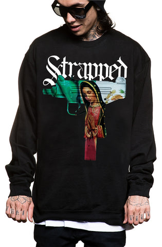 STRAPPED CREWNECK