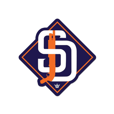 SD Shotty Diamond Sticker - O/S / Navy/Orange - Sticker
