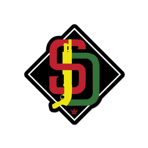 SD Shotty Diamond Sticker - O/S / Rasta - Sticker