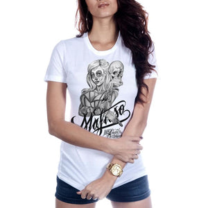 SKULLY WOMENS TEE - Womens T-Shirt