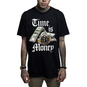TIME IS MONEY - S / Black - T-Shirt
