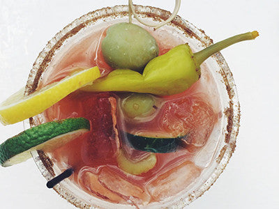 Kimchi + Sesame = Delicious Fermented Bloody Maria