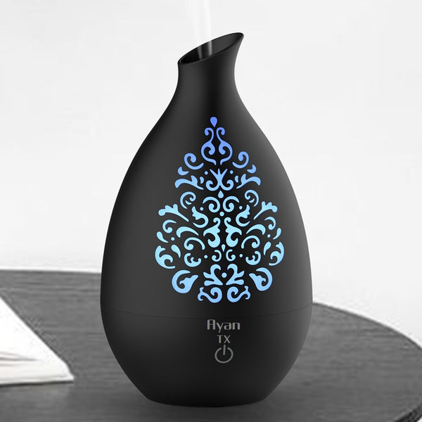 Ayan TX Colour Changing Aroma Diffuser and Humidifier. 7 Hours. Black - Diffuser Humidifier