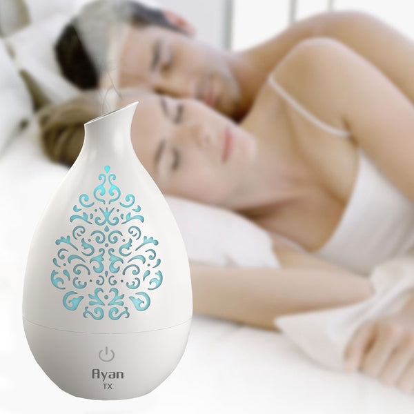 Ayan TX Colour Changing Aroma Diffuser and Humidifier. 7 Hours. White - Diffuser Humidifier