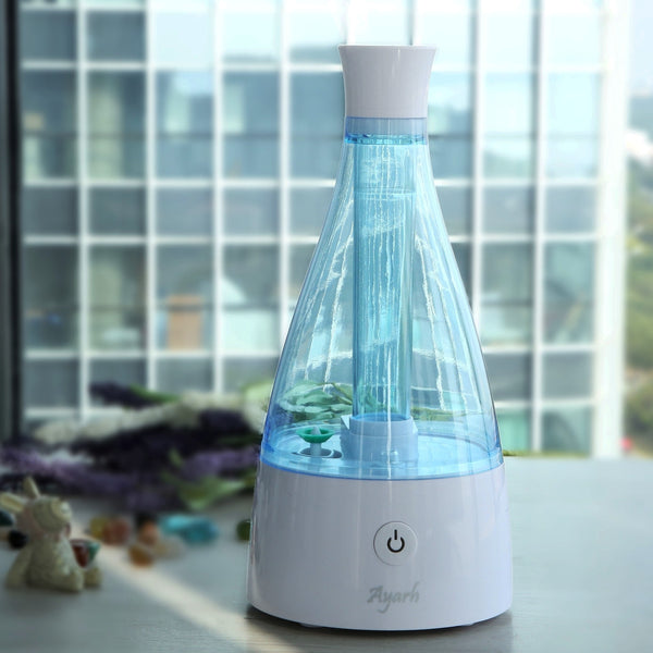 Ayarh Humidifier with Night LED Lamp. 6 Hours. - Diffuser Humidifier