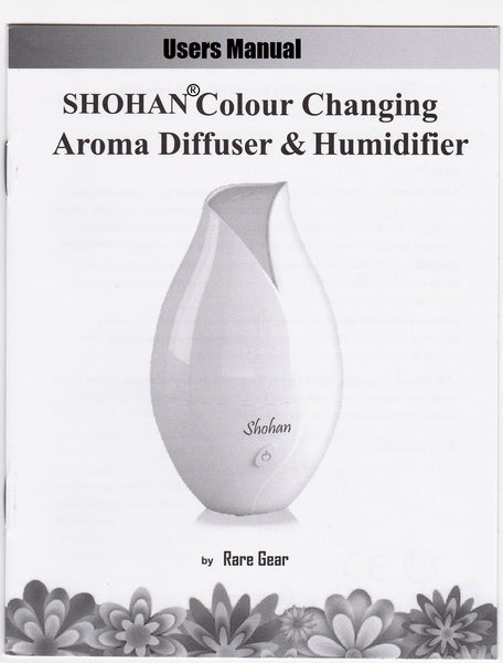 Shohan Colour Changing Aroma Diffuser and Humidifier. 9 Hours. - Diffuser Humidifier