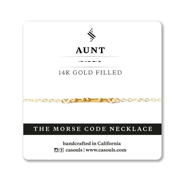 AUNT MORSE CODE NECKLACE - CA SOULS