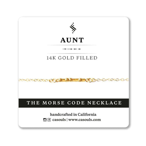 AUNT MORSE CODE NECKLACE