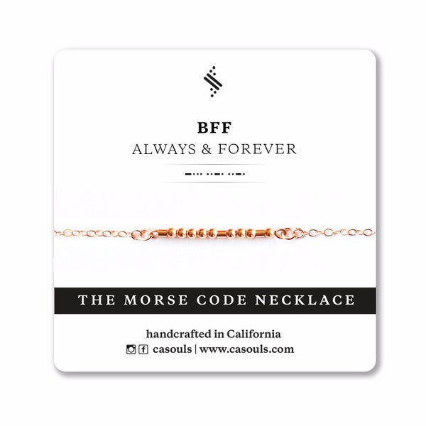 BFF ALWAYS - MORSE CODE NECKLACE - CA SOULS
