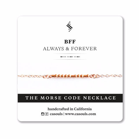 BFF ALWAYS - MORSE CODE NECKLACE