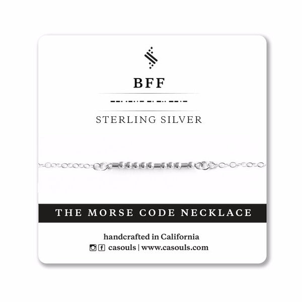 BFF MORSE CODE - FRIENDSHIP NECKLACE - CA SOULS
