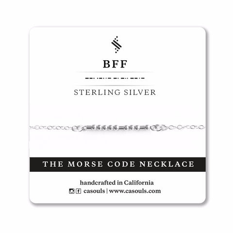 BFF MORSE CODE - FRIENDSHIP NECKLACE