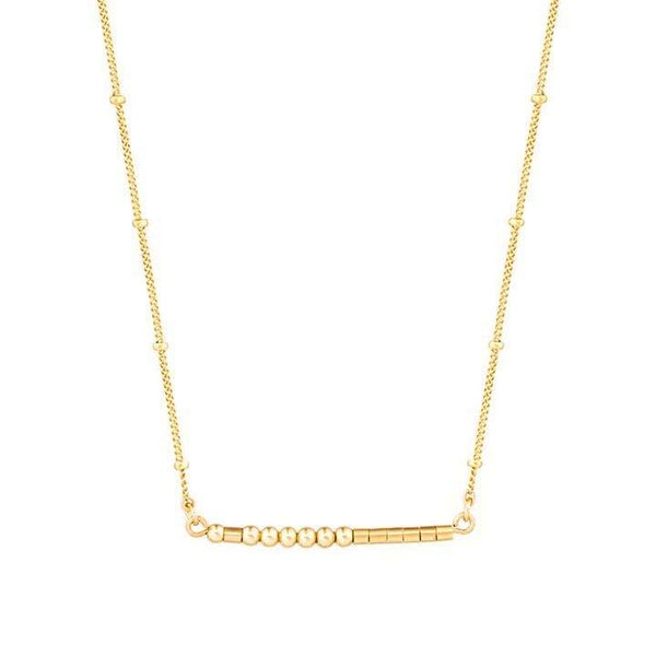 CARA - MORSE CODE NECKLACE - CA SOULS