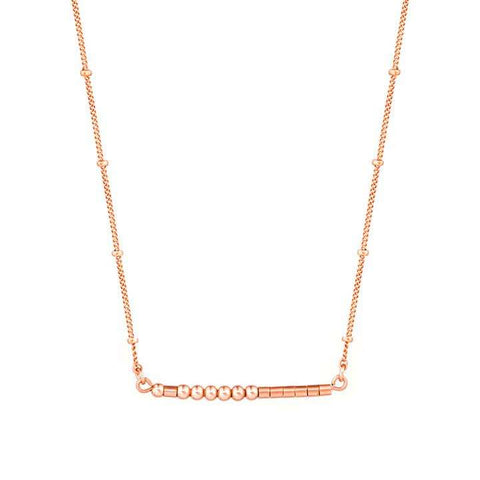 CARA - MORSE CODE NECKLACE