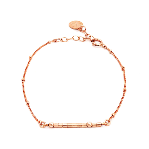 Personalized morse code bracelet - Rose Gold